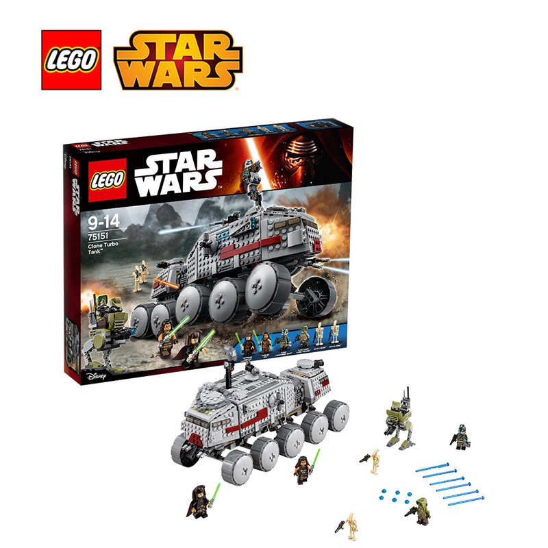 Lego star wars building bricks toy Clone Turbo Tank Building blocks Toy for children LEGC75151 Lego starwars