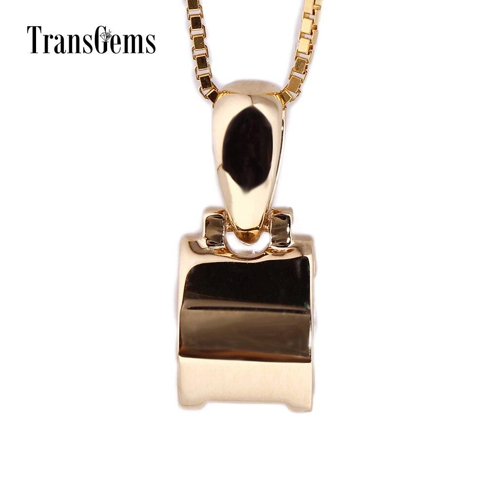 TransGems 18 Karat Gelbgold 1 Karat 6,5 mm Labor Moissanite Diamant - Edlen Schmuck - Foto 4