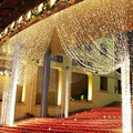Venda direta da Fábrica de alta qualidade 220 V RGB 300 LEDS 3 M * 3 M LEVOU Cachoeira Cortina Natal Festa De Natal decoração Do Feriado Luzes