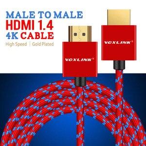 Image 2 - VOXLINK HDMI kablosu 3FT/6FT/10FT Ultra yüksek hızlı erkek Ethernet ile erkek HDMI kablosu 1080P HDMI 1.4 4K 3D için PS3 BLURAY XBOX