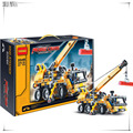 292 pieces Model Building Kits Car Building Block Baby Boy Building Model Crane Block machineshop truck juggle Toy bricks N3349