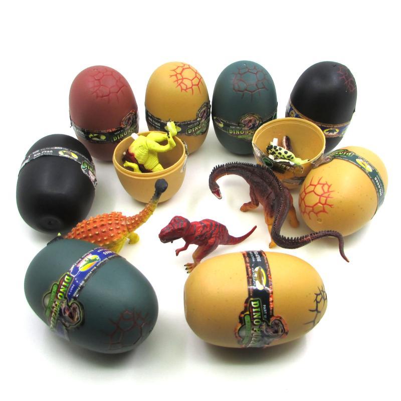 3D dinosaurios huevos novedad juguete Dino juego juguetes educativos creativos interés regalo mascota dinosaurio azar 4 unidades o 8 unidades