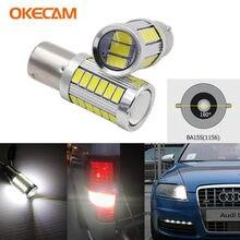 Светодиодные лампы P21W 1156 BA15S S25, 2 шт., автомобильные фары для Audi A3 A4 B7 A6 A8 Q7 S3 S4 S6, светодиодные дневные ходовые огни 12 В, белые