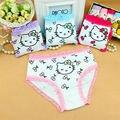 Горячие Продажи Симпатичные Девушки Underwear Трусы Трусики Хлопок Baby Дети Брюки Kitty Calcinha Infantil Menina