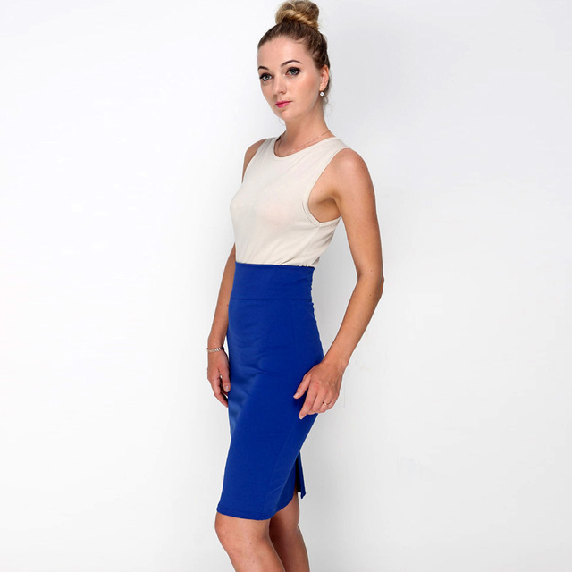 Pencil Skirt With High Waist Tight