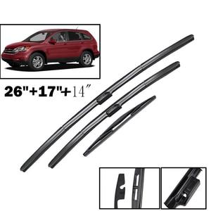 "Image 1 - Ericks Wiper LHD Front & Rear Wiper Blades Set Kit For Honda CRV CR V 2007   2011 MK3 Windshield Windscreen Window 26""+17""+14"""