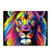 Digital DIY Oil Painting By Numbers Snow Tiger Wall Decor Picture On Canvas Oil Paint Coloring
