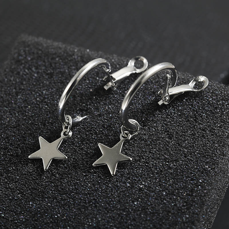 Simple Style Fashion Silver Gold Color Earrings for Women Square Round Geometric Hanging Earrings 18 Female Pendientes Jewelry 38