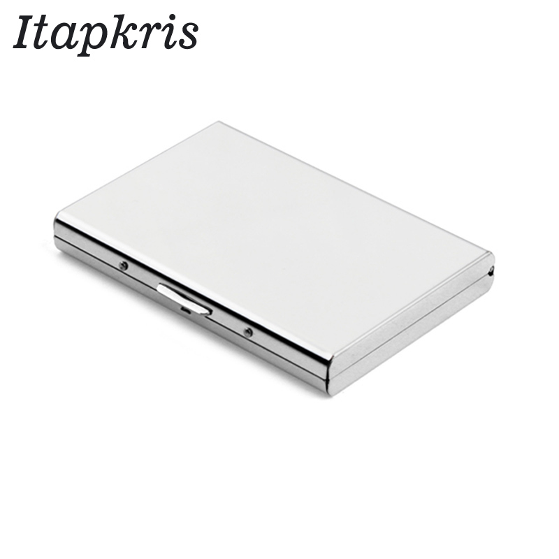 цена на Aluminum Women Credit Card Holder Slim Card Protector Men Travel ID Cardholder Rfid Wallet Blocking Case porte carte
