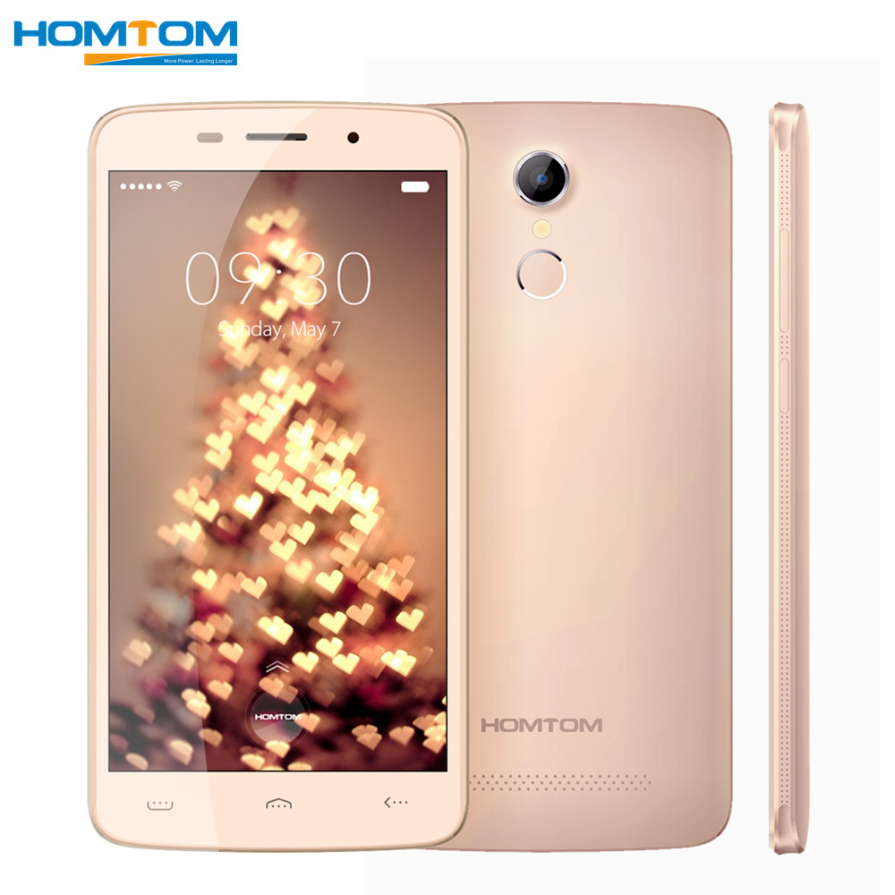 Цена за HOMTOM HT17 Pro 5.5 ''Smartphone Android 6.0 MT6737 4 Г LTE мобильный Телефон Quad Core 2 ГБ RAM 16 ГБ ROM 3000 мАч Отпечатков Пальцев мобильный телефон