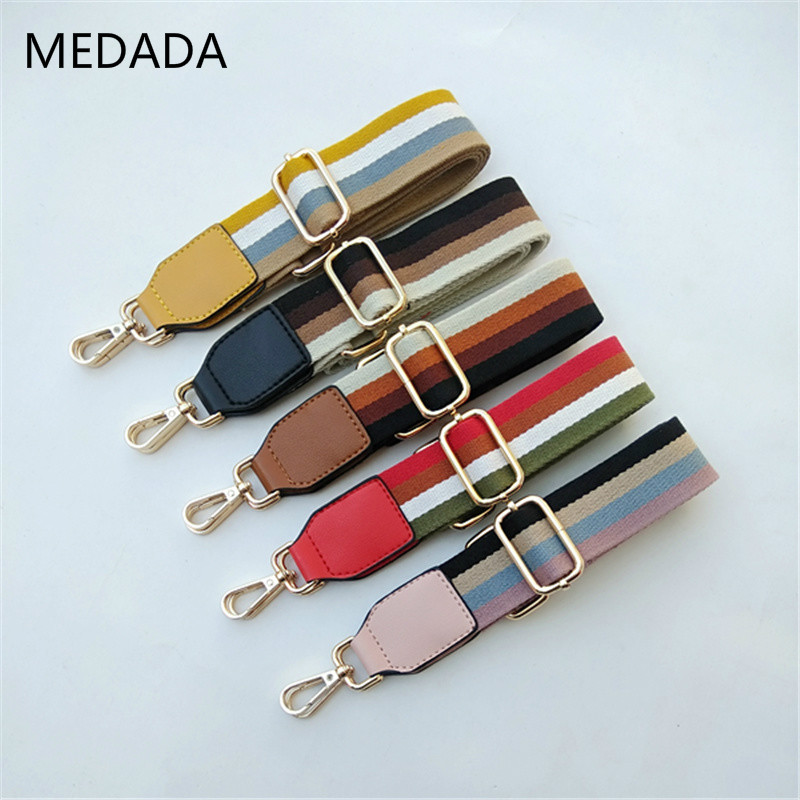 New Bag Replacement Shoulder Strap Inclined Span Single Shoulder Women's Bag Accessories Belt Backpack With Color Stripe