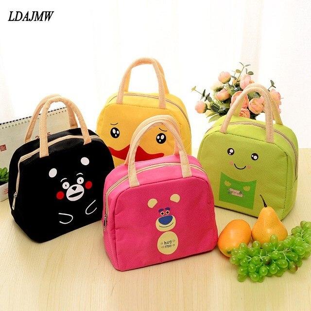 7f9afaccb80a US $3.39 30% OFF|Aliexpress.com : Buy LDAJMW Cute Cartoon Lunch Bag  Portable Insulated Cooler Bags Food Fruit Storage Bag Picnic Bag Women  Student ...