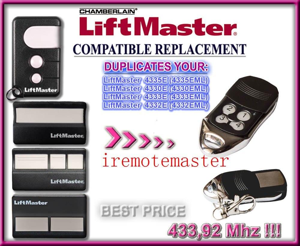 Liftmaster Chamberlain 4335E 4330E 4332E repalcement remote Garage door Opener