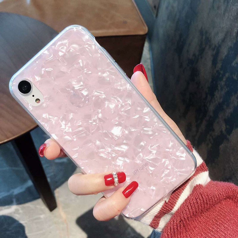 Tfshining Lovely Glitter Conch Pattern Phone Case For iPhone XS Max X XR 6 6s 7 8 Plus Fashion Soft Shell Protective Case Cover (3)