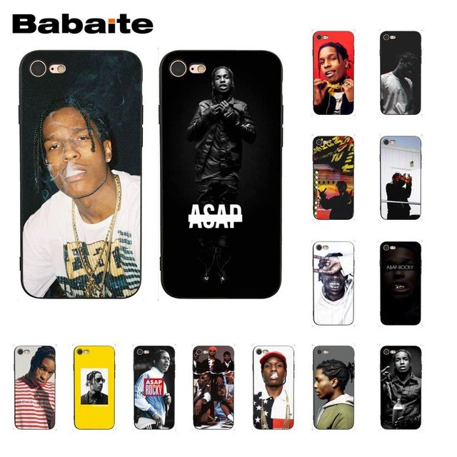 sports shoes 91e13 df255 US $1.06 29% OFF|Babaite ASAP Rocky Rapper DIY Painted Coque Phone Case for  iPhone 8 7 6 6S Plus X XS MAX 5 5S SE XR 10 Cover-in Half-wrapped Case ...