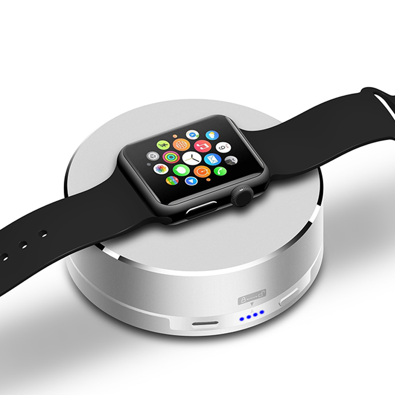 Pop Charging station For Apple Watch Portable 1500mAh wireless charge Power Bank Dock Cradle Apply to Travel battery charger ...