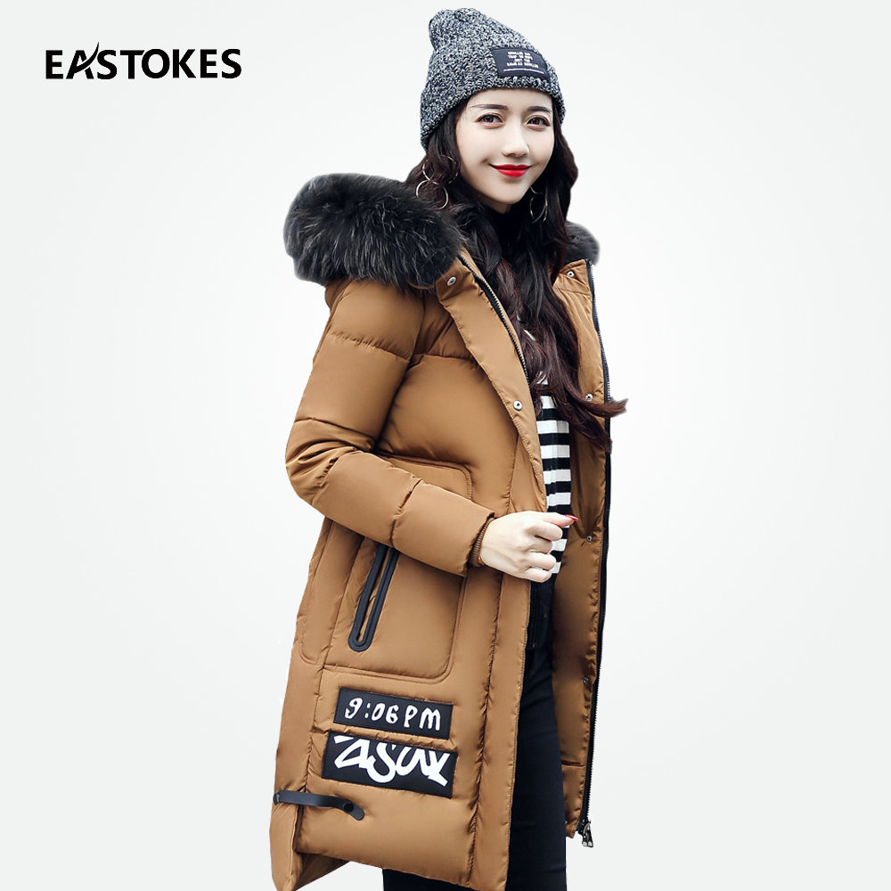 Women Winter Coat Slim Fit Ladies Hooded Jackets With Fur Collar Women Cotton Jacket Women Warm Outerwears Female Winter Parkas