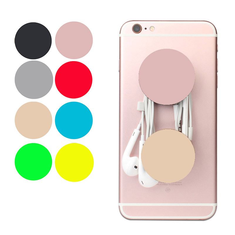 Pure Color Pattern Anti-fall Round <font><b>POP</b></font> <font><b>Finger</b></font> <font><b>Phone</b></font> <font><b>Holder</b></font> Universal Used Stander Mount Smartphone Desk Stand For iPhone Xiaomi