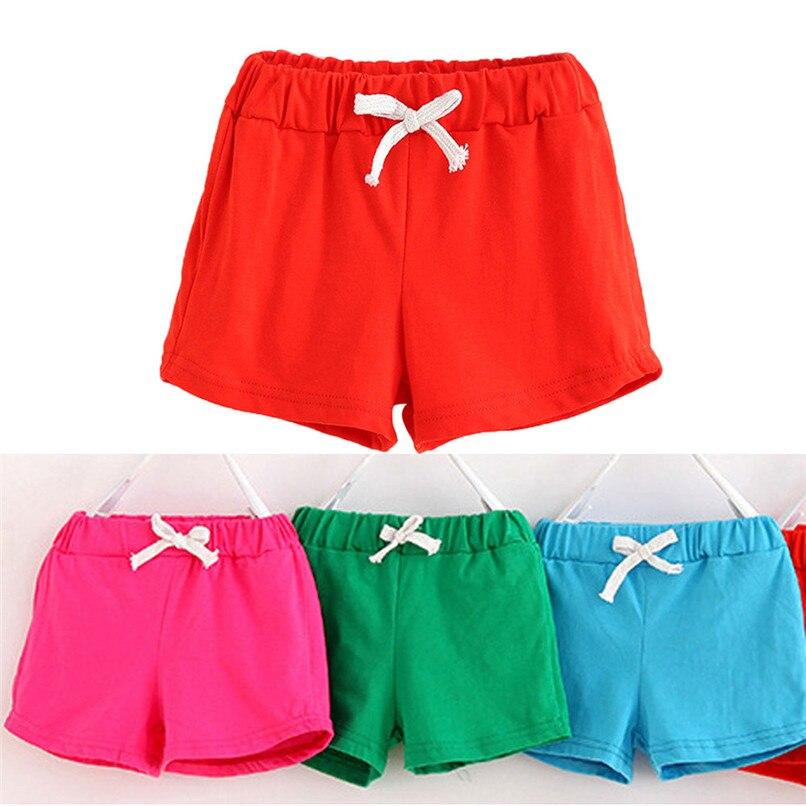 Boys Girls Candy Colors Shorts Elastic Waist Short Pants Unisex Sports Hot Pants