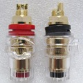 A pair Banana connector Gold-plated Banana plug sockets copper terminals for Speaker stereo