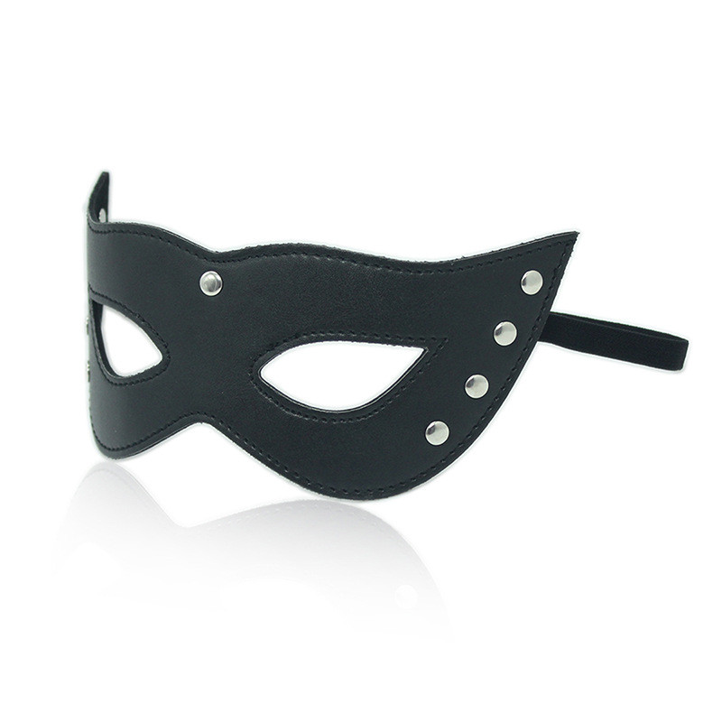 Sexy Lingerie Sex Mask Porn Lingerie Sexy Black Hollow Leather Mask Erotic Costumes -7893