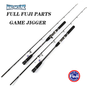 Image 1 - NEW JAPAN MADMOUSE 1.8M Full Fuji Parts Jigging Rod  PE 2 4 Lure Weight 60 200G Spinning / Casting Boat Rod Ocean Fishing Rod
