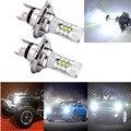 2 шт. H4 белые светодиодные лампы 80 Вт Автомобильные противотуманные светодиодные лампы фары дальнего света с чипом высокой мощности XB-R5 8000K А...