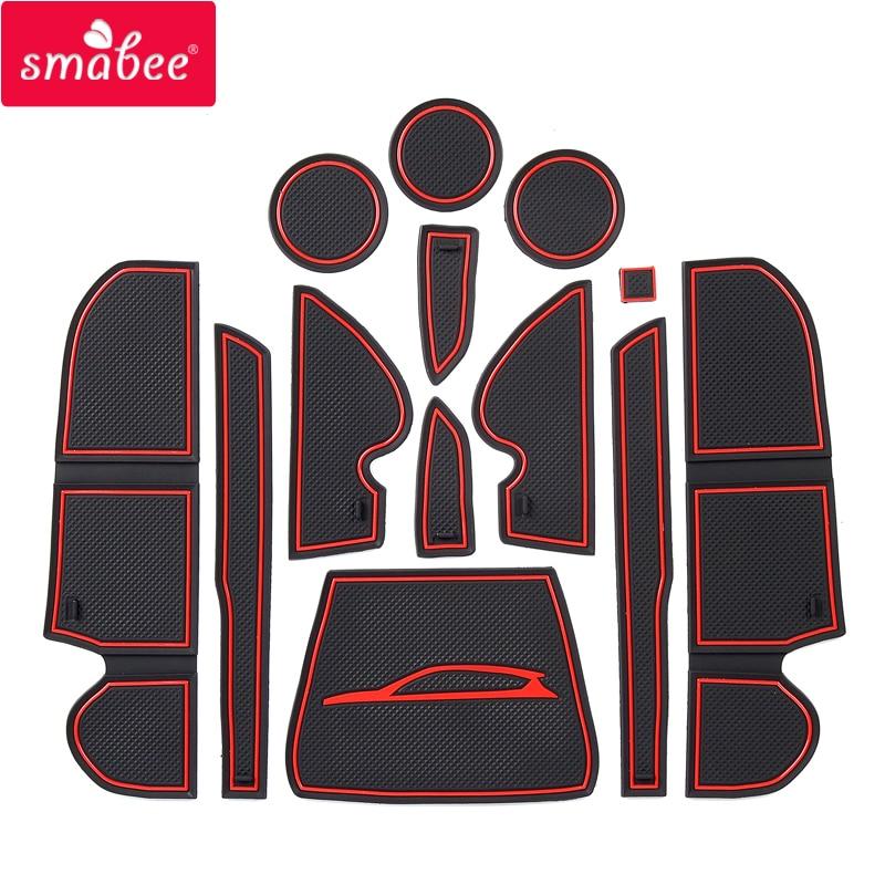 Smabee Anti-Slip Gate Slot Mat For Ford KUGA 2013 2014 2015 2016 Ford Escape MK2 Pre-facelift Rubber Non-slip Mats Accessories