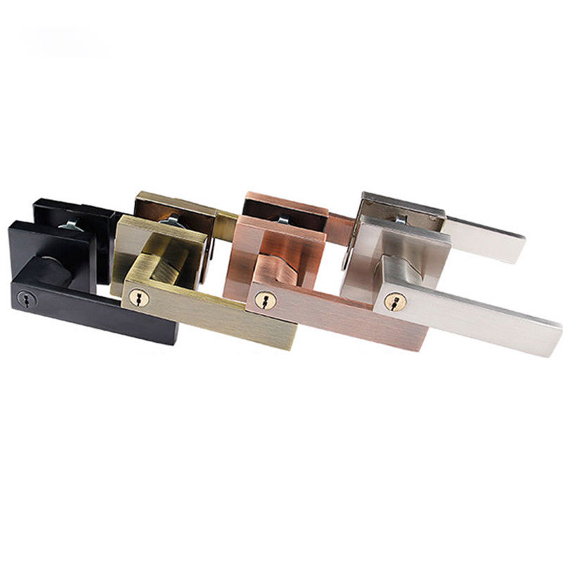 High Quality Stainless Steel Door Lock Bolt Lock Lever Handle Interior Lock + 3PCS Brass Keys