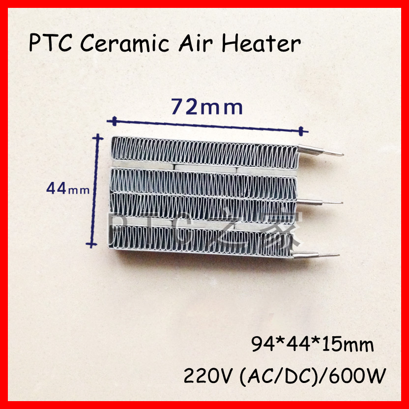 (1 pieces/lot) 220V 600W 92x44x15mm PTC Constant Thermostat Heating Element Ceramic Air Heater Plate Incubator Conductive Type dia 400mm 900w 120v 3m ntc 100k round tank silicone heater huge 3d printer build plate heated bed electric heating plate element