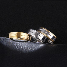 DOTIFI 316L Stainless Steel Rings For Women Size 7-11 Three Colers Engagement Wedding Ring Jewelry(China)