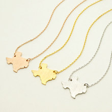 r Women Map Geography Necklace 2016 Body Chain Texas Map Pendant Necklace for Women Men Fashion Jewelry matal alloy Choker
