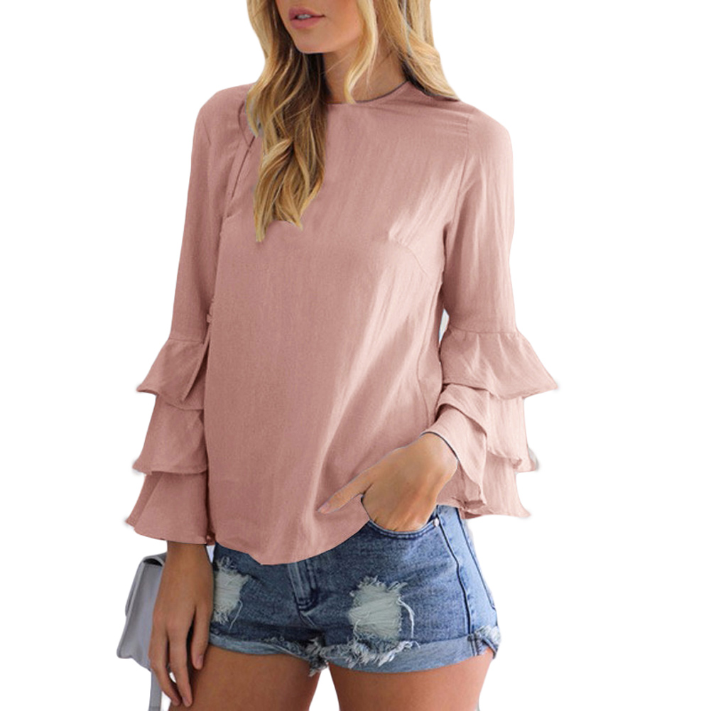 Women Plus Big Size 2xl Loose Casual Chiffion Blouse Bandage Round Neck Short Sleeve Tunic Shirt Blusas Mujer Clear-Cut Texture Women's Clothing