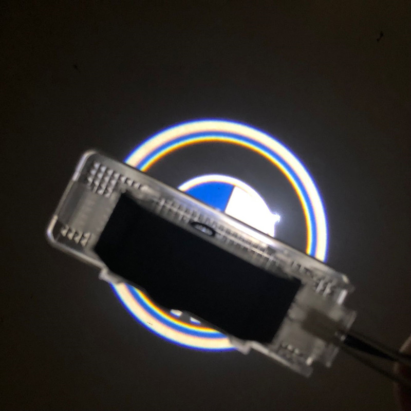 2Pcs LED Logo Projector Ghost Shadow Light For BMW E39 X5 E53 E52 528I Car Door Welcome Lamp No Drilling Car Styling kaneed 2x car led door logo projector ghost shadow light for audi bmw vw honda car door led welcome decorative light brand logo