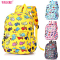 2016 Hot Sale Small Waterproof Nylon Cartoon Elephant kindergarten Mochila Escolar Children School Bags Backpack For Kids Girl