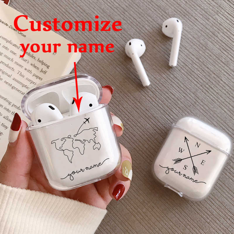 Custom Name Love Unique Luxury Case For Air Pods Case For Bluetooth Wireless Airpod Cover DIY Customized Photo Letters Hot