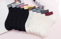 Women summer new cotton striped socks mouth hollow mesh piles of female socks low socks SC066 10pairs