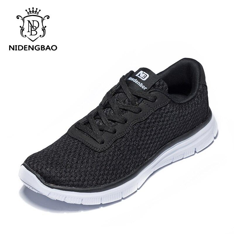 Plus Size 48 49 50 Homens Sneakers para Homens Malha Respirável Leve Sapatos Casuais Plana Lace-up Sapatos Pretos homens para o Transporte da gota