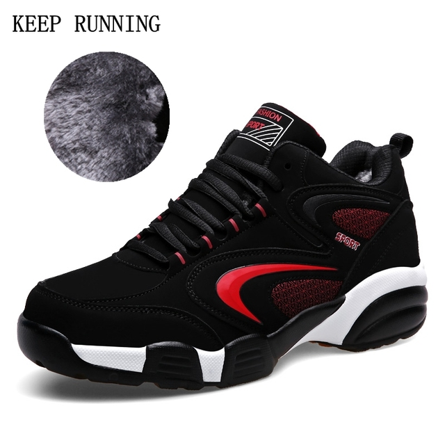 2017 High Quality For Adult Men Winter Thermal Sport Shoes Brands Warm Running Sneakers Lovers Sport Trainers Leather Sneakers