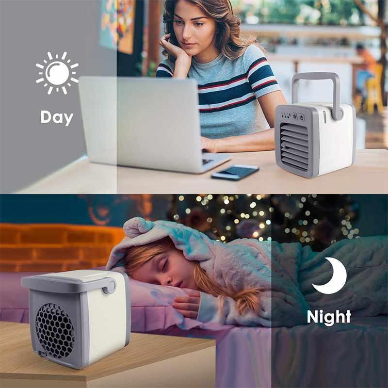 Персональный кондиционер 4 в 1 Мини USB персональный воздушный охладитель, увлажнитель очиститель настольный вентилятор охлаждения 3 скорости офисный бытовой