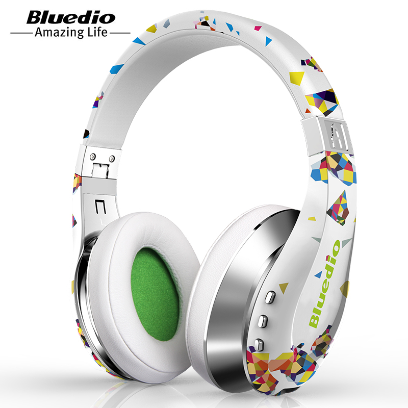Bluedio A Air Fashionable Wireless Bluetooth Headphones with Microphone HD Diaphragm Twistable Headband 3D Surround Sound