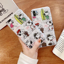 KAIEN ins Seashell funny cute cartoon dog fashion soft cover for Apple