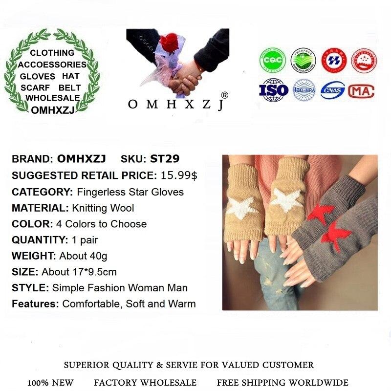 OMH venta al por mayor guantes de algodón para hombres y mujeres amantes guantes sin dedos de moda de color blanco y negro para chicas en invierno - 3