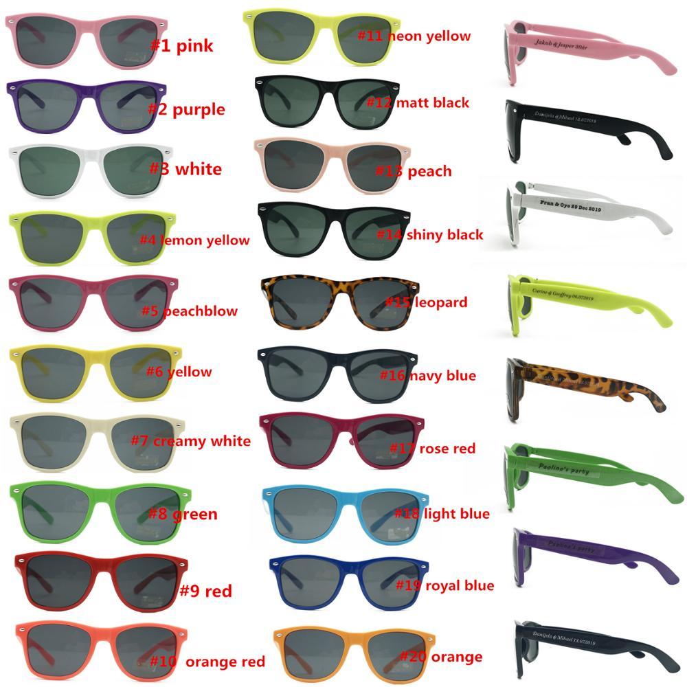 60 pairs lot Customized Mix Color Wedding Party Sunglasses Souvenirs for Guest Bulk Sunglasses Lot Party