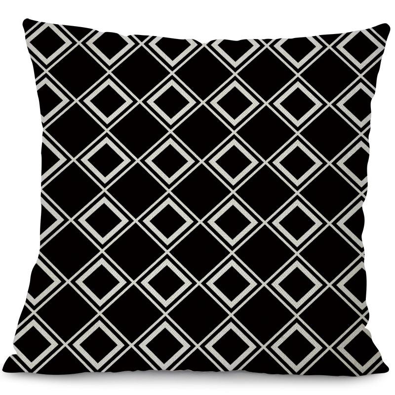 Miracille Cushion Қара және Ақ Геометрия - Үй тоқыма - фото 4