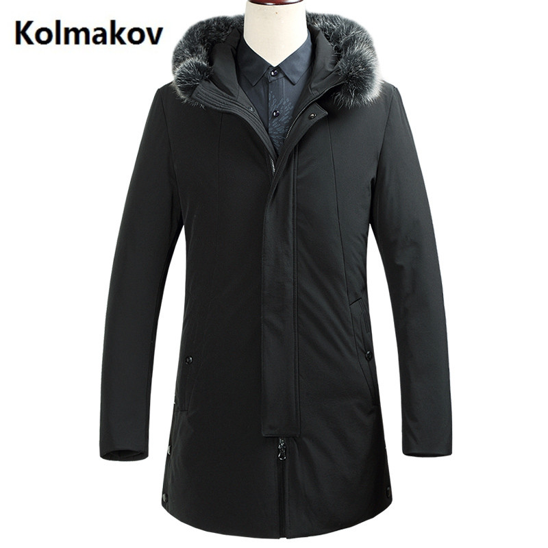 2017 winter new Mens down coats casual 90% white duck down down coats jackets Mens thicken down jacket trench coat size M-3XL