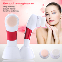 Electric Powder Makeup Puff Cleansing Instrument Seal Cracked Meter Fur Brush Multi Functional Beauty Equipment
