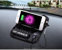 Multifuncional coche navegación teléfono móvil Soporte antideslizante cargador USB para Hyundai Elantra ix35 Solaris acento i30 ix25 Tucson