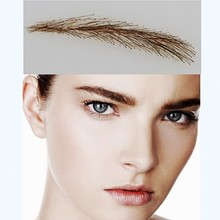 005 hair eyebrows / taty make up waterproof eyebrow / fake eyebrow color/ false eyebrows human hair 100% human hair hand made