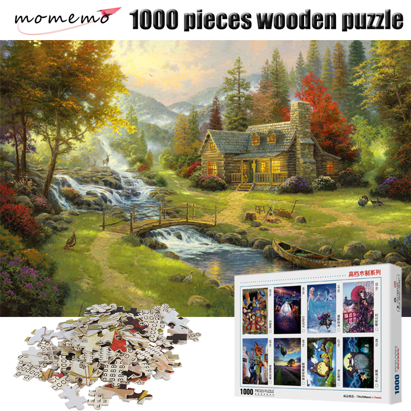 MOMEMO Rural Scenery Puzzle 1000 Pieces Adult Entertainment Jigsaw Puzzles Wooden Puzzle Assembling Puzzle Game Toy for Children